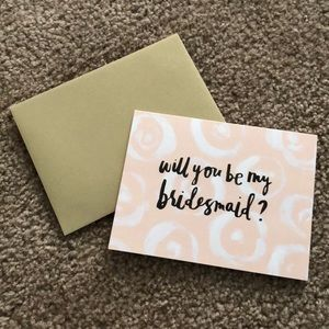 Will You Be My Bridesmaid Set of 8 Cards